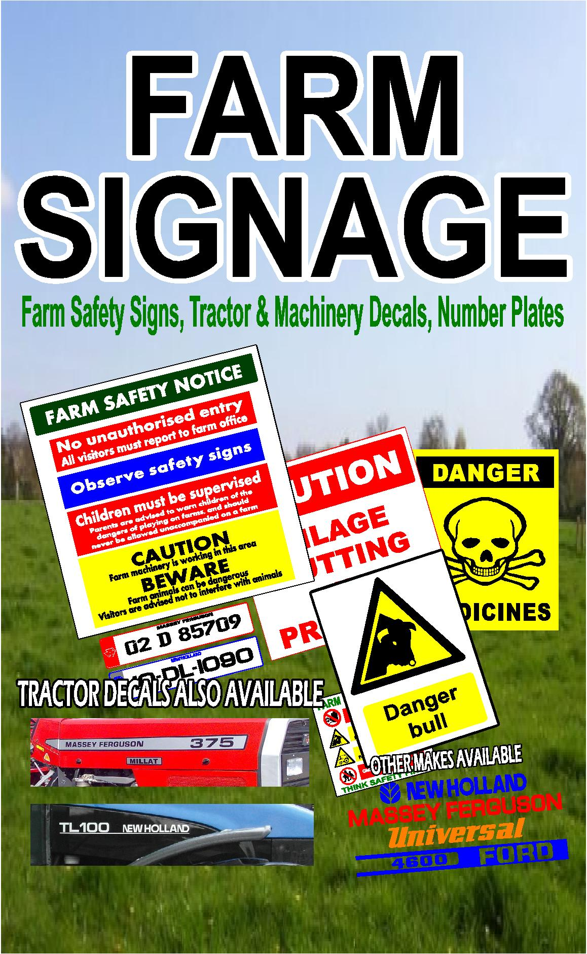 Safety Signs/ Farm Safety Signs  Sign It